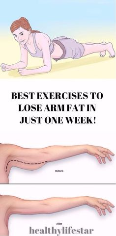 BEST EXERCISES TO LOSE ARM FAT IN JUST ONE WEEK!