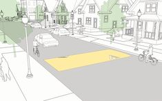 Speed Humps explained and illustrated in the NACTO Urban Street Design Guide. Click image for source. Click on image for details, and visit the Slow Ottawa 'Streets for Everyone' Pinterest board for more of these superb illustrations.