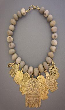 Unique ethnic jewelry and tribal jewelry -- Dorje Designs - hamsa African Jewelry, Tribal Jewelry, Boho Jewelry, Jewelry Art, Beaded Jewelry, Jewelery, Jewelry Accessories, Jewelry Necklaces, Handmade Jewelry