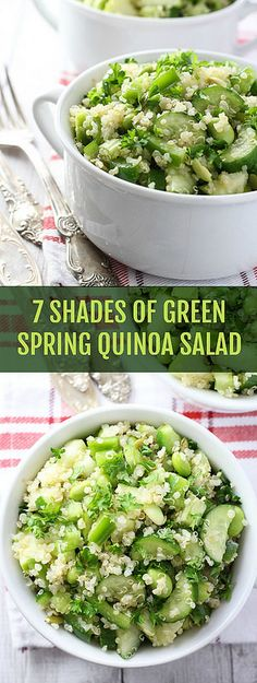 7 Shades of Green Spring Quinoa Salad - because healthy is the new sexy!