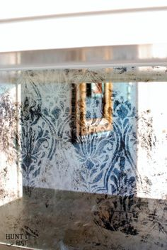 Damask Antique Mirror: DIY Tutorial                                                                                                                                                                                 More