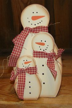 cute Country wood Stacking Snowman Family Great Holiday Christmas Decor #Unbranded #Holiday