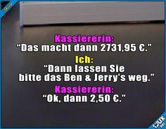 Kleinigkeit gespart #teuer #Eis #trotzdemlecker #lustigeSprüche #Jodel #Studentenleben #Studentlife #Humor