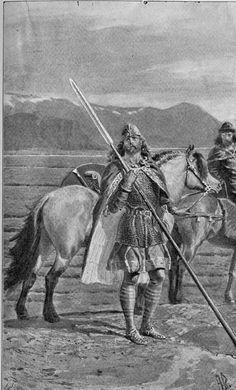 Andreas Bloch illustrasjon til Njåls Saga