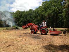 Clearing brush at the future Redding Hacienda