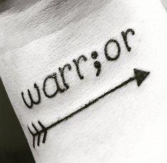 13 Arrow Warrior Semicolon Tattoo