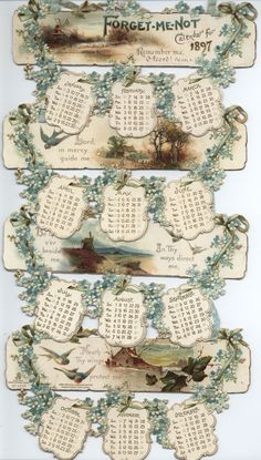 FORGET-ME-NOT CALENDAR FOR 1897