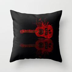 Reflex of music in blackwater Throw Pillow by Viviana González - $20.00
