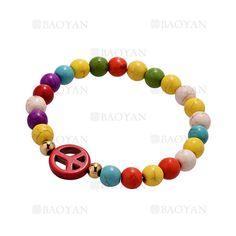 pulsera de perla color surtido con bola dorado acero inoxidable-SSBTG924384