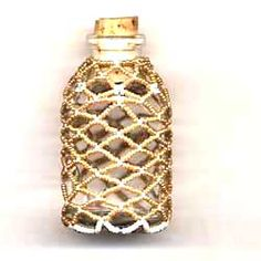 Beaded Bottle -- I'm thinking of scaling it up a little, this would be perfect for gifted wine bottles!!
