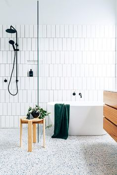 Luxurious Black And White Subway Tiles Bathroom Design bathroom bathroomdecor homedecorideas 861594972441532426 Bathroom Tile Designs, Bathroom Trends, Diy Bathroom Decor, Budget Bathroom, Bathroom Interior Design, Bathroom Ideas, Bathroom Images, Big Bathrooms, Modern Bathroom