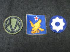 Vintage Lot Of 3 US Authentic WWII Patches WW2 World War 2.  #worldwar2 #WW2 #WWII #patches #US #authentic #military #history