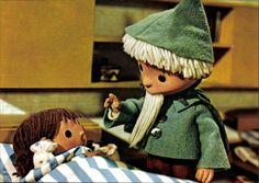 Ansichtskarte / Postkarte Das Sandmännchen sagt Gute Nacht, Sandmännchen, DDR Kinderfernsehen