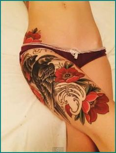 leg tattoo. soo pretty!