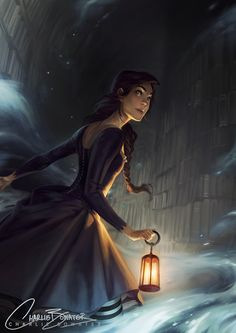 "charliebowater: ""  A little illustration I did for a Q&A in this month's Imagine FX :) """