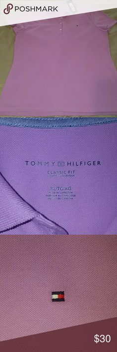 NWT Tommy Hilfiger Classic Fit Polo Love this Polo but I never wore it. Beautiful Lavender color...Great with shorts this summer.. Or dress it up. MAKE AN OFFER!! Tommy Hilfiger Tops