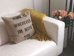 Inexpensive DIY Gifts for Family | Cute DIY Pillows with Quotes
