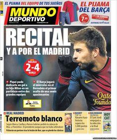Los Titulares y Portadas de Noticias Destacadas Españolas del 25 de Enero de 2013 del Diario Mundo Deportivo ¿Que le parecio esta Portada de este Diario Español?