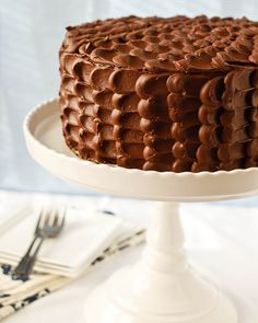 chocOlate cake with petal icing