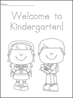 Printables First Day Of Kindergarten Worksheets first day coloring worksheet kindergarten christine statzel these worksheets can be used on the of school students trace and