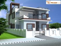 Duplex (2 floors) home.Click on this link (http://www.apnaghar.co.in/pre-design-house-plan-ag-page-63.aspx) to view free floor plans (naksha) and other specifications for this design. You may be asked to signup and login. Website: www.apnaghar.co.in, Toll-Free No.- 1800-102-9440, Email: support@apnaghar.co.in