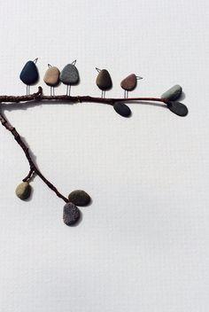 Sharon nowlan pebble art original with sea glass sail por PebbleArt, $120.00