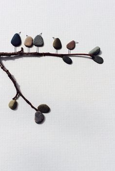 Sharon nowlan pebble art original with sea glass sail por PebbleArt, $120.00