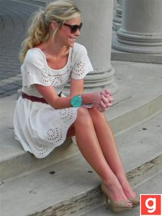 Dress is so casual but pretty at the same time.  Pair it with sandles as well.<3