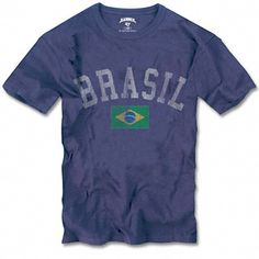 Brazil '47 Brand Blue Vintage Scrum Country T-Shirt