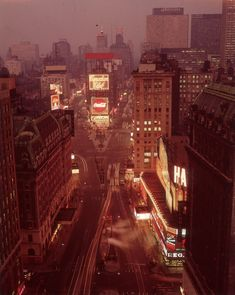 High-angle view of Times Square at dusk, New York, 1965 Jimi Hendrix, Nature Pictures, Old Pictures, Police Beat, Beach Boy, Coca Cola Ad, Urban Life, Kirchen, I Saw
