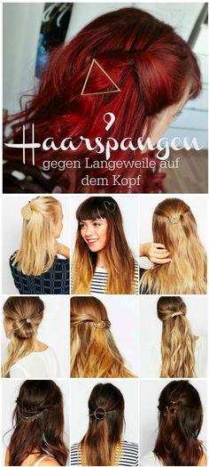 Haarspangen im Halbmond- , Triangel- oder Kreisdesign. Mehr auf http://www.zauberhafte-elv.de