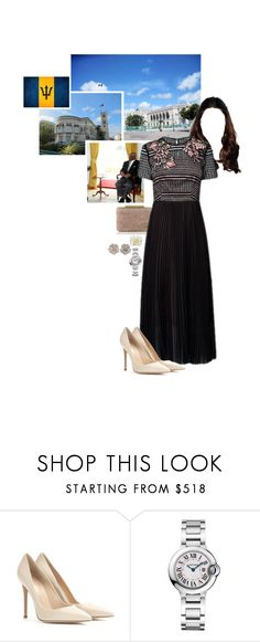 """Untitled #2344"" by duchessq ❤ liked on Polyvore featuring L.K.Bennett, Gianvito Rossi and Cartier"