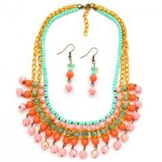 Collar Etnik Rosado   Compra tus accesorios en www.dulceencanto.com