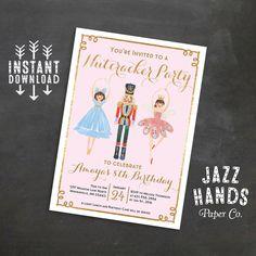 Nutcracker Invitation Sugar Plum Fairy by JazzHandsPaperCo on Etsy