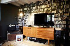 #decor wallpaper of books