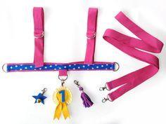 Pferdchengeschirre & - Bänder - Pferdegeschirr Pferdeleine Baumwolle mit Schmuck - ein Designerstück von Designer-Brause bei DaWanda
