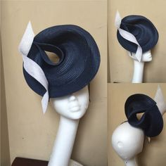 Whoa—>Zara by Tiffany Arey. An interesting way to handle a sewn braid capeline. Millinery Hats, Fascinator Hats, Fascinators, Headpieces, Hat Blocks, Hat Stands, Cocktail Hat, Fancy Hats, Love Hat
