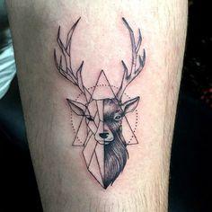 Geometric triangle deer