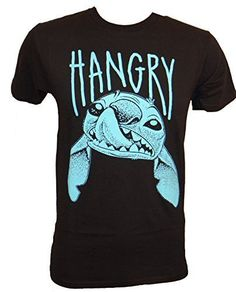 If anyone knows what it is like to be Angry, Hungry or both, It would be Stitch. - Officially licensed Disney T-shirt - Standard Size Adult Mens Tee - Printed and Designed by Mighty Fine