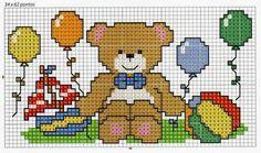 Baby Cross Stitch Patterns, Cross Stitch Baby, Baby Knitting Patterns, Baby Patterns, Plastic Canvas Patterns, Cross Stitching, Beading Patterns, Crafts To Make, Needlepoint