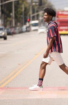 Mens athletic low cut Ankle sock tropical floral hawaiian vivid tropic Short Comfort Sock