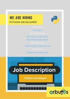 Python Developer Instagram Feed, Instagram Story, Instagram Posts, Help Wanted Ads, Hiring Poster, We Are Hiring, Join Our Team, Job Offer, Social Media Template