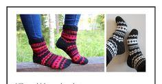 Hilma kirjoneulesukat.pdf Knit Crochet, Pdf, Socks, Knitting, Fashion, Hosiery, Moda, Tricot, Cast On Knitting