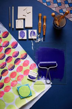 For the print-mix enthusiast, a cheery and colorful Dutch wax #DIY, now on the #AnthroBlog