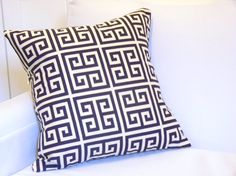 17x17 Twin Towers Throw Pillow Cover Navy & by metzinteriors, $15.00