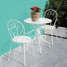 Blooma Flores Ferforje Sandalye Beyaz - Koçtaş