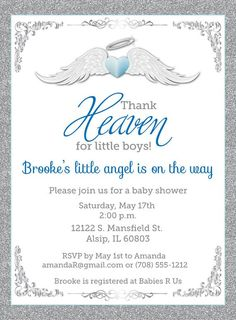 29 Best Heaven Sent Baby Shower Images Baby Shower Parties Boy
