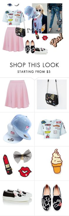 """""""Patches and Pins"""" by noelg29 ❤ liked on Polyvore featuring Zara, Baimomo, GCDS, Joshua's, Kate Spade and Anya Hindmarch"""