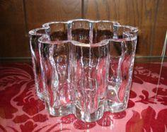 Rare Orrefors Lobed Flower Cylinder Bowl, Vase or Ice Bucket