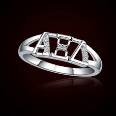 Alpha Xi Delta Sorority Rings #AXiD #AlphaXiDelta #Sorority #Greek #Accessories #Jewelry